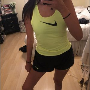 Nike tank top and short workout set